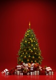 Viele Geschenke zu Weihnachten unter Christbaum